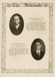 Page 11, 1916 Edition, University of Florida - Tower Seminole Yearbook (Gainesville, FL) online yearbook collection