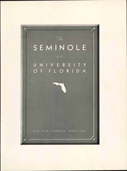 Page 13, 1935 Edition, University of Florida - Tower Seminole Yearbook (Gainesville, FL) online yearbook collection