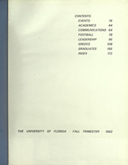 Page 5, 1963 Edition, University of Florida - Tower Seminole Yearbook (Gainesville, FL) online yearbook collection