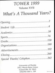 Page 3, 1999 Edition, University of Florida - Tower Seminole Yearbook (Gainesville, FL) online yearbook collection