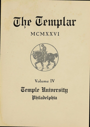 Page 5, 1926 Edition, Temple University - Templar Yearbook (Philadelphia, PA) online yearbook collection