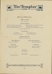 Page 7, 1926 Edition, Temple University - Templar Yearbook (Philadelphia, PA) online yearbook collection