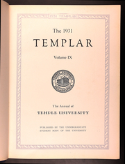 Page 11, 1931 Edition, Temple University - Templar Yearbook (Philadelphia, PA) online yearbook collection