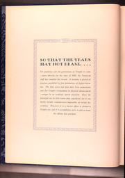 Page 14, 1931 Edition, Temple University - Templar Yearbook (Philadelphia, PA) online yearbook collection