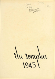 Page 4, 1945 Edition, Temple University - Templar Yearbook (Philadelphia, PA) online yearbook collection