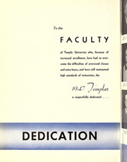 Page 10, 1947 Edition, Temple University - Templar Yearbook (Philadelphia, PA) online yearbook collection