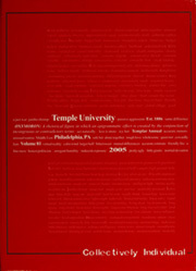 2005 Edition, Temple University - Templar Yearbook (Philadelphia, PA)