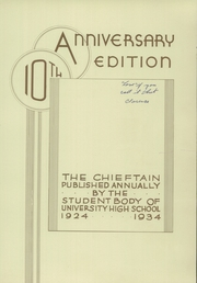 Page 9, 1934 Edition, University High School - Chieftain Yearbook (Los Angeles, CA) online yearbook collection