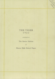 Page 5, 1932 Edition, Huron High School - Tiger Yearbook (Huron, SD) online yearbook collection