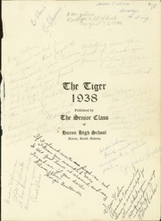 Page 3, 1938 Edition, Huron High School - Tiger Yearbook (Huron, SD) online yearbook collection