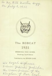 Page 5, 1931 Edition, Brookings High School - Bobcat Yearbook (Brookings, SD) online yearbook collection