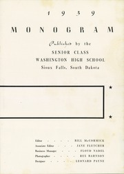 Page 7, 1939 Edition, Washington High School - Warrior Yearbook (Sioux Falls, SD) online yearbook collection