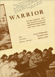 Page 9, 1942 Edition, Washington High School - Warrior Yearbook (Sioux Falls, SD) online yearbook collection