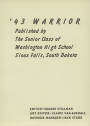 Page 7, 1943 Edition, Washington High School - Warrior Yearbook (Sioux Falls, SD) online yearbook collection