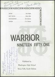 Page 7, 1951 Edition, Washington High School - Warrior Yearbook (Sioux Falls, SD) online yearbook collection