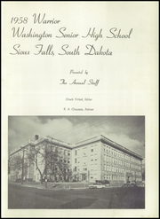 Page 5, 1958 Edition, Washington High School - Warrior Yearbook (Sioux Falls, SD) online yearbook collection