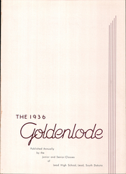 Page 5, 1936 Edition, Lead High School - Goldenlode Yearbook (Lead, SD) online yearbook collection