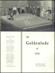 Page 5, 1939 Edition, Lead High School - Goldenlode Yearbook (Lead, SD) online yearbook collection