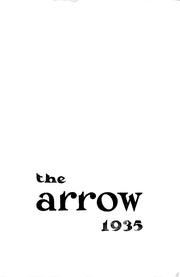Page 1, 1935 Edition, Central High School - Arrow Yearbook (Aberdeen, SD) online yearbook collection