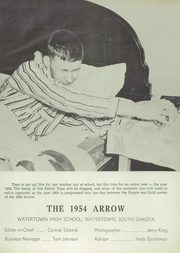 Page 7, 1954 Edition, Watertown High School - Arrow Yearbook (Watertown, SD) online yearbook collection