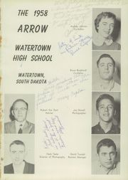 Page 5, 1958 Edition, Watertown High School - Arrow Yearbook (Watertown, SD) online yearbook collection