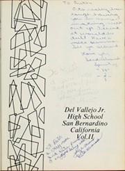 Page 5, 1970 Edition, Del Vallejo Middle School - El Camino Real Yearbook (San Bernardino, CA) online yearbook collection