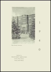 Page 5, 1940 Edition, Lennox High School - Len Kota Yearbook (Lennox, SD) online yearbook collection