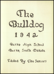 Page 3, 1942 Edition, Burke High School - Bulldog Yearbook (Burke, SD) online yearbook collection