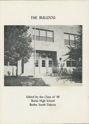 Page 3, 1949 Edition, Burke High School - Bulldog Yearbook (Burke, SD) online yearbook collection