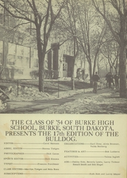 Page 3, 1954 Edition, Burke High School - Bulldog Yearbook (Burke, SD) online yearbook collection