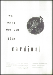 Page 5, 1958 Edition, Wolsey High School - Cardinal Yearbook (Wolsey, SD) online yearbook collection
