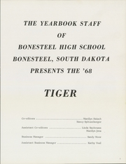 Page 5, 1968 Edition, Bonesteel High School - Tiger Yearbook (Bonesteel, SD) online yearbook collection
