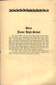 Page 8, 1930 Edition, Dana Middle School - Log Yearbook (San Pedro, CA) online yearbook collection