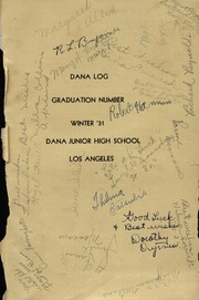 Page 4, 1931 Edition, Dana Middle School - Log Yearbook (San Pedro, CA) online yearbook collection