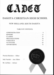 Page 2, 1971 Edition, Dakota Christian High School - Cadet Yearbook (New Holland, SD) online yearbook collection