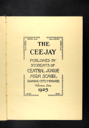 Page 7, 1925 Edition, Central Middle School - Ceejay Yearbook (Kansas City, MO) online yearbook collection