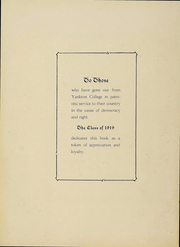 Page 7, 1919 Edition, Yankton College - Okihe Yearbook (Yankton, SD) online yearbook collection