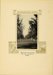 Page 12, 1926 Edition, Huron University - Rubaiyat Yearbook (Huron, SD) online yearbook collection