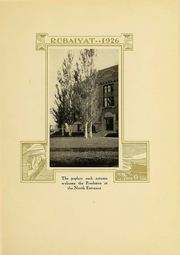 Page 13, 1926 Edition, Huron University - Rubaiyat Yearbook (Huron, SD) online yearbook collection