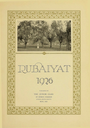 Page 7, 1926 Edition, Huron University - Rubaiyat Yearbook (Huron, SD) online yearbook collection
