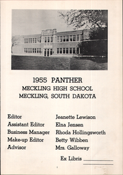 Page 5, 1955 Edition, Meckling High School - Panther Yearbook (Meckling, SD) online yearbook collection