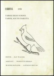 Page 5, 1959 Edition, Tabor High School - Cardinal Yearbook (Tabor, SD) online yearbook collection