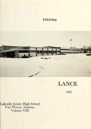 Page 9, 1967 Edition, Lakeside Middle School - Lance Yearbook (Fort Wayne, IN) online yearbook collection
