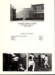 Page 7, 1980 Edition, Lakeside Middle School - Lance Yearbook (Fort Wayne, IN) online yearbook collection
