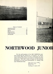 Page 10, 1965 Edition, Northwood Middle School - Northwood Cardinal Yearbook (Fort Wayne, IN) online yearbook collection
