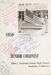 Page 5, 1959 Edition, John C Fremont Junior High School - Junior Colonist Yearbook (Anaheim, CA) online yearbook collection