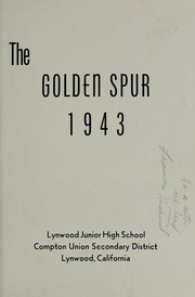 Page 3, 1943 Edition, Lynwood Middle School - Golden Spur Yearbook (Lynwood, CA) online yearbook collection