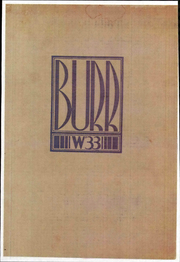 Page 1, 1933 Edition, John Burroughs Middle School - Burr Yearbook (Los Angeles, CA) online yearbook collection