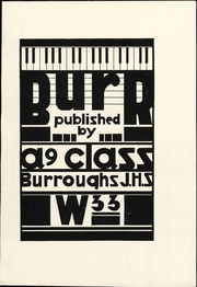 Page 9, 1933 Edition, John Burroughs Middle School - Burr Yearbook (Los Angeles, CA) online yearbook collection