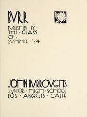 Page 7, 1934 Edition, John Burroughs Middle School - Burr Yearbook (Los Angeles, CA) online yearbook collection